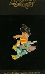 DISNEY AUCTIONS STITCH UNDERWATER WITH LILO AND PUDGE THE FISH LE 100 PIN RARE $389.99