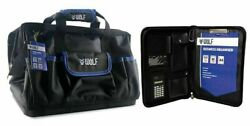 WoLF TOOL BAG WITH BUSINESS ORGANISER WBB002 460mm Hard Base, Heavy Duty $120.79