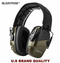 GLORYFIRE Electronic Shooting Earmuff Sound Amplification 6 Times Electric Ea...