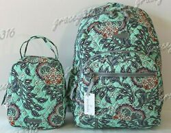 Vera Bradley Essential Backpack and Lunch Bunch Set Fan Flowers $117.95