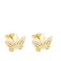 Yellow Gold Earrings with Diamonds - High Jewelry Made by hand from Art