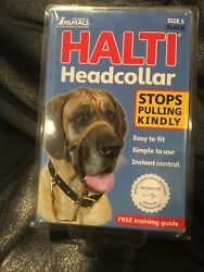 Halti Dog Head Collar Large Breed Dog Size 5 Stop Pulling Kindly Snout Black NEW