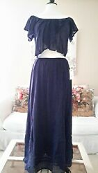 Billabong Two Piece Boho Chic Skirt And Top Set Size Large NWT $44.00