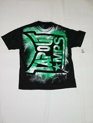 TAPOUT MPS BLACK SHORT SLEEVE MEN#x27;S LARGE TEE T SHIRT LIGHTNING NEON GREEN $21.95