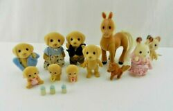 Vintage Epoch Calico Critters 1985 Horse Babies Dog Bunny 11pc Doll Figure Lot