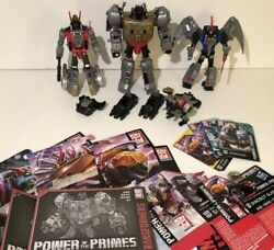 Transformers - Dinobot - Lot Of 4 - Volcanicus Combiner Power of The Primes