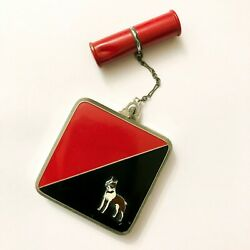 Evans Vintage Art Deco Enamel Black and Red Compact with Lipstick