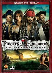Pirates of the Caribbean: On Stranger Tides DVD Blu ray 2011 2 disc 108184 $9.49