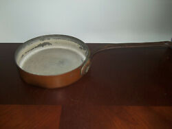 VINTAGE L. BARTH & SON NEW YORK COPPER HEAVY DUTY FRYING PAN 10 14