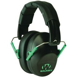 Walkers GWP-FPM1-BKTL PRO Low-Profile BlackTeal Earmuffs Hearing Gun Protection