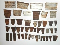 Lot of 47 Used Various Size Axe Handle Wedges Restore Old Ax Wood Shop