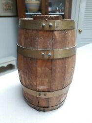 Vintage Small Wood Wooden Barrel Keg