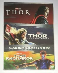 THOR 3 Film Movie Collection DVD Box Set 1-3 Trilogy New & Sealed with Slipcover