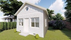 Tiny House Plans THE CALIFORNIA on CD All New Design 500 Sq. Ft.