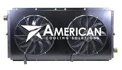New Mobile Hydraulic Oil Cooler 0-120 GPM 60HP with Dual 12V Fans and Shroud