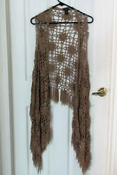 Rue 21 Brown Cardigan Vest   Size Small
