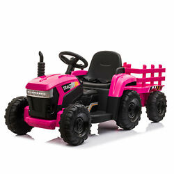 Ride on Tractor with Detachable Trailer Kids Truck Car Toy 12V Battery Powered $159.99