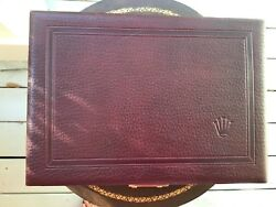 Authentic Rolex Burgundy Leather & Velvet Jewelry Box 51.10.01 With Key