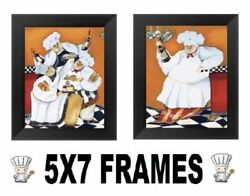 💗 5x7 Fat Chef Pictures Bistro Cooking Chefs Wall Hangings Kitchen Home Decor $13.99