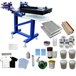 3 Color Screen Printing Kit Micro-registration Press Printer With Flash Dryer