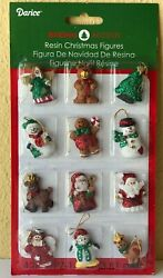 Miniature Dollhouse Mini CHRISTMAS Tree 12 1¼quot; Resin Sparkly Rustic Ornaments $6.95