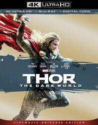 THOR DARK WORLD 4K UHD + BLU-RAY + SLIPCASE NO DIGITAL LIKE-NEW FREE SHIPPING