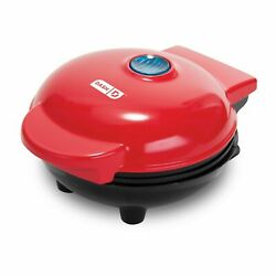 # Dash Mini Maker The Waffle Maker Machine for Individual Waffles Paninis Red