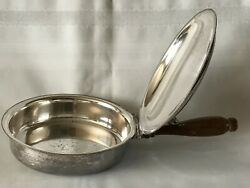Vintage Silent Butler CrumbAsh Pan EPC 300 Wooden Handle 10-12 Inches