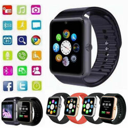 Latest 2019 GT08 Bluetooth Smart Watch Phone Wrist Watch for Android and iOS BLK