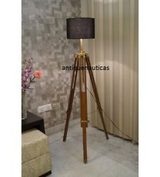 Designer Lamp Nautical Floor Shade Lamp Brown Stand Handmade Decor Without Shade $95.50