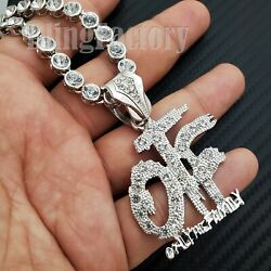 Iced Only the Family OTF Pendant amp; 20quot; CZ Choker Chain Hip Hop Urban Necklace $13.29