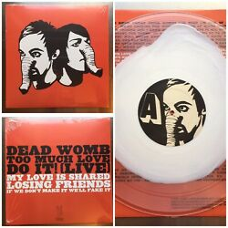 RARE COLOR VINYL x500 DEATH FROM ABOVE HEADS UP CLEAR SPLAT LP [ woman machine