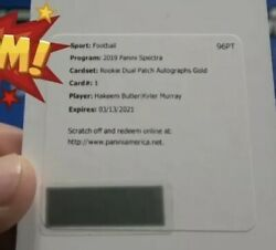 2019  Spectra Gold Dual Patch Auto Redemption 11  Kyler Murray