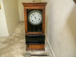 Antique c.1910-20 ( Pre- IBM Name) Time Clock by International Time Recording Co