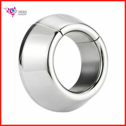 Weighted Magnetic Ball Stainless Steel Stretcher Man Enhance Penis Chastity Ring