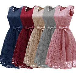 Women Formal Lace Party Dress Wedding Bridesmaid Cocktail Prom Gown Ball Dresses
