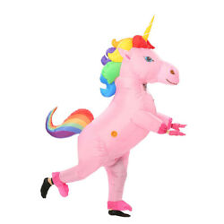 Unicorn Inflatable Costume Halloween Suit for Kids Adult Women Christmas Party