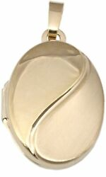 Medallion Gold 375 Oval 9 CT Pendant Matte Yellow Gold 9 Carat