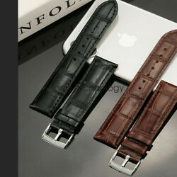 22mm 20mm Universal Quick Release Crocodile Pattern Leather Watch Band Strap $8.99