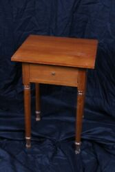 Antique Circa 1860 Cherry Table - Replaced Top