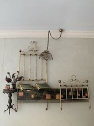 Large Vintage Mid century Brass Bed Wall Art Decor Very Different $50.00