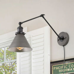 Wall Lamp Adjustable Wall Sconces Plug in Sconces Wall Lighting Silver Brushed $185.99