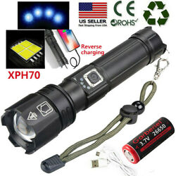 Super Bright 90000lumens XHP70.2 LED USB Rechargeable Flashlight Zoomable Torch $19.49