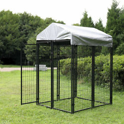 Extra Large Outdoor Dog Kennel Cage Dog Kennel House Heavy Duty Playpen w Cover $172.99