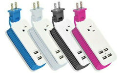 Portable Charging Station with 4 USB Ports Type A 1A2A For Smartphone Tablet $10.99