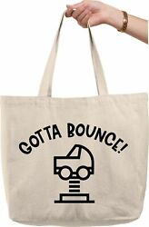 Gotta Bounce! Playground Outdoors Park Play Kids Nature Natural Canvas Tote Bag