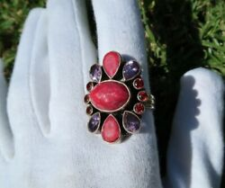 Nicky Butler Limited Edition Corundum Sterling Silver Multi Gemstone Ring 8.75