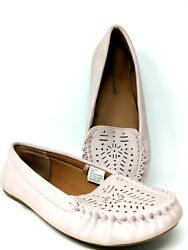 Lucky Brand Pink Moccasin Slip On Driving Loafer Flats Shoes Womens Size 9M40M