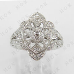 Antique Style 2.00 Ct Diamond Vintage Engagement Ring For Women's 10k White Gold