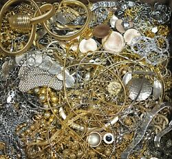 4 Lbs Gold Silver Tone Necklaces Bracelet Jewelry All Wearable Bulk Lot Grab Bag $49.99